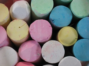 colored pavement chalk